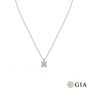 Platinum Cushion Cut Diamond Pendant 1.80ct H/VS1